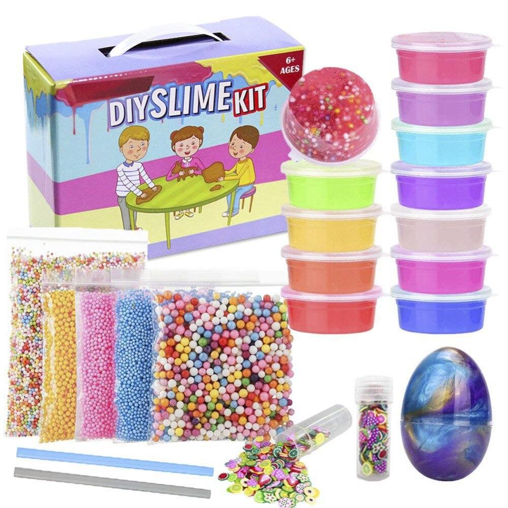 Les fournitures de Slime font votre propre Kit de fabrication de Slime paillettes de mousse de cristal clair pour les filles garçons enfants bricolage artisanat d'art pour la maison
