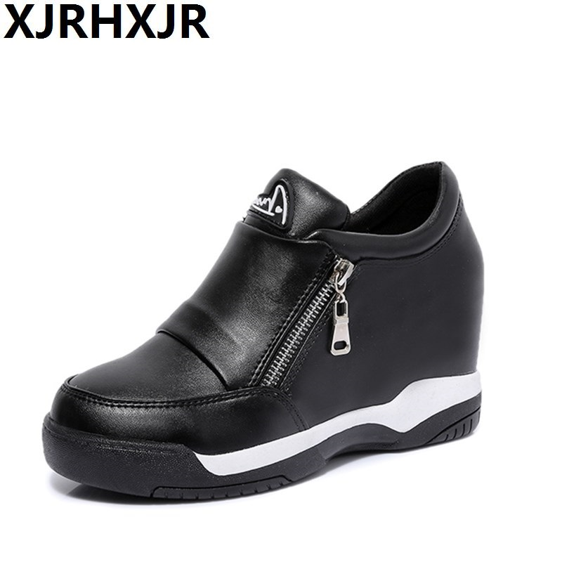 2017 New 7cm Height Increasing Heels Lace Up Fashion Brand Platform Shoes Women Casual Shoes Ladies Shoes for Women недорго, оригинальная цена