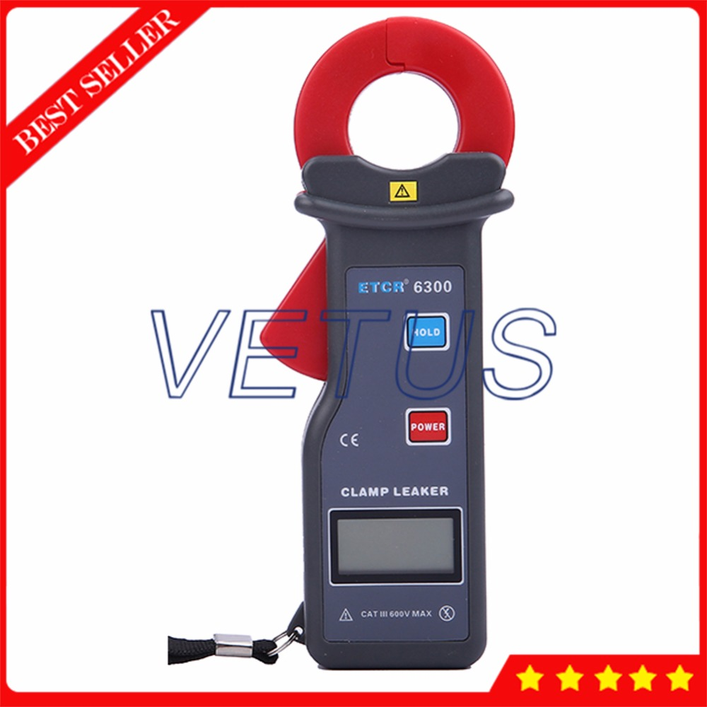 ETCR6300 25*30mm High Accuracy Digital ammeter with AC Leakage Current Clamp Meter 99 datas storage etcr030 high accuracy clamp leakage current sensor