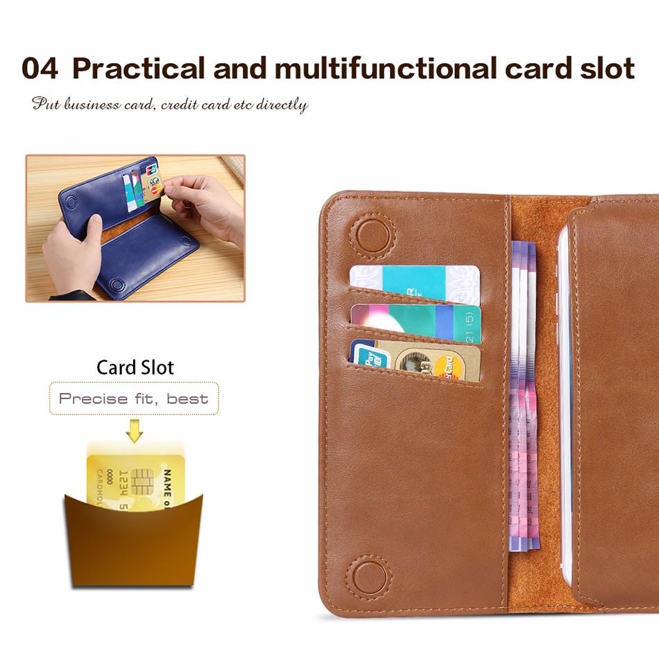 Floveme luksusowe retro skórzany portfel torby phone case do samsung s7 s6 s5 dla iphone 7 6 6 s plus se 5S 5 miękka pokrywa torebka marki 9