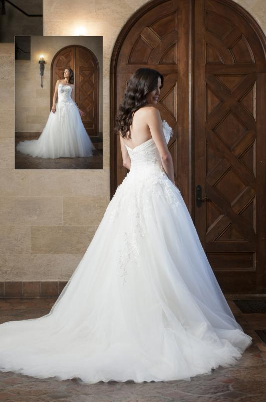 Lds Wedding Dresses Ball Gown Flores Para Noivas Lace Top Strapless ...