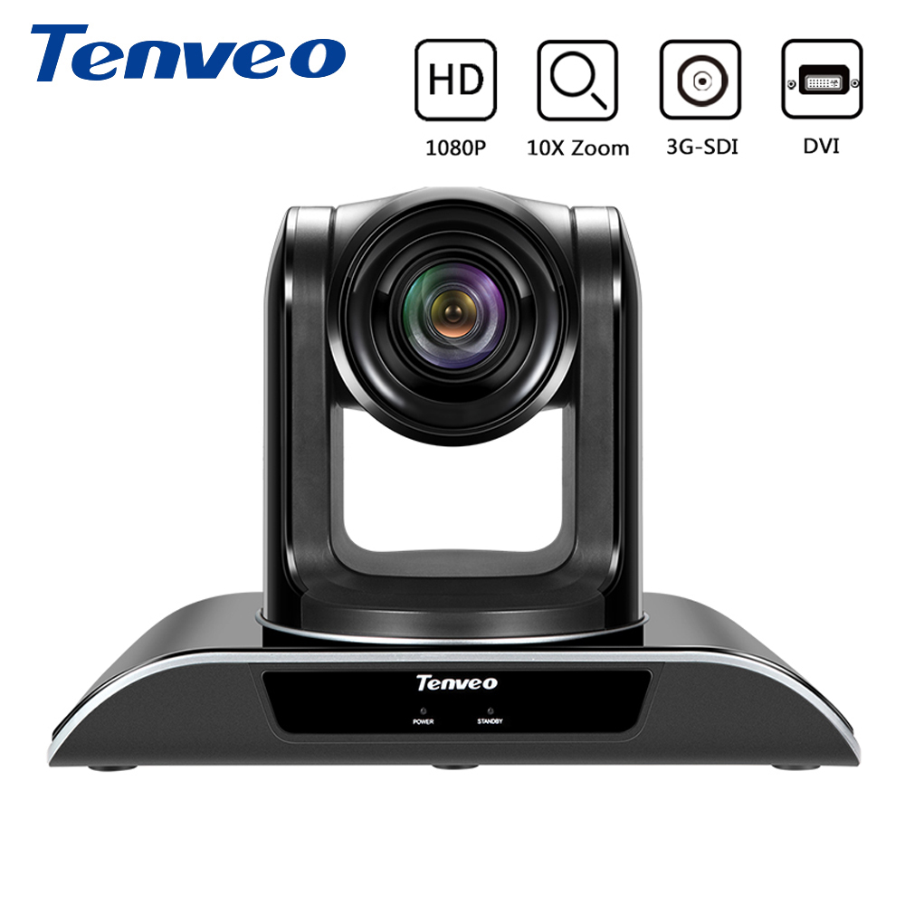 Tenveo VHD10N Full HD 1080P PTZ Video Conference Camera 10X Zoom SDI Camera With 3G-SDI Simultaneous Output for Projector image