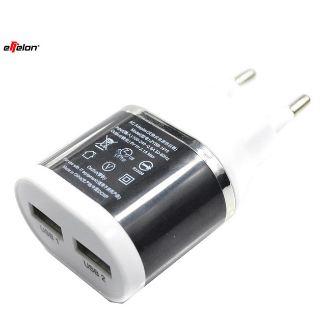 Effelon 5V 2.1A USB Power EU/US Wall Adapter Mobile Phone Charger for iPad 2 3 4 for iPhone 5/5C 5S 4/4S for iPod Touch
