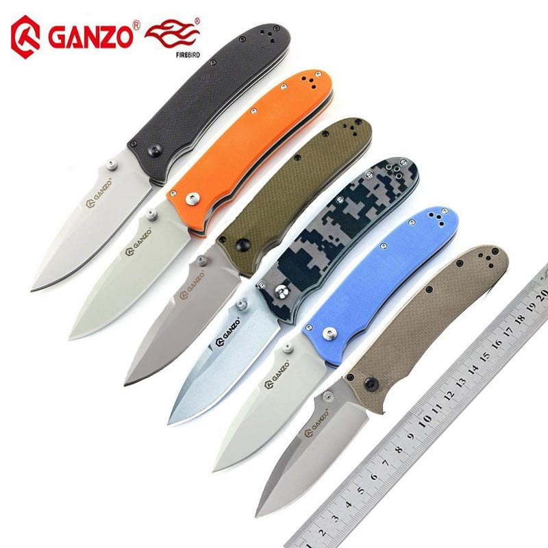 Ganzo Firebird G704 440C Blade G10 Handle Folding Knife Survival Hunting Tactical Knife EDC Pocket Knife Outdoor Camping Tool