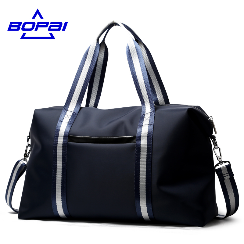 BOPAI Fashion WaterProof Travel Bag Large Capacity Bag Women nylon Folding Bag Unisex Luggage Travel Handbags