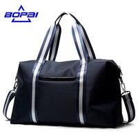 BOPAI Lightweight Blue Travel Bags Nylon Shoulder Duffle Bag For Men Large Capacity Luggage Bags Waterproof
