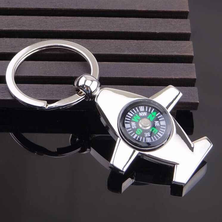 Бесплатная доставка FedEx 100 шт./лот металлическая плоскость формы брелоки Компасы брелки с логотипом для события подарки