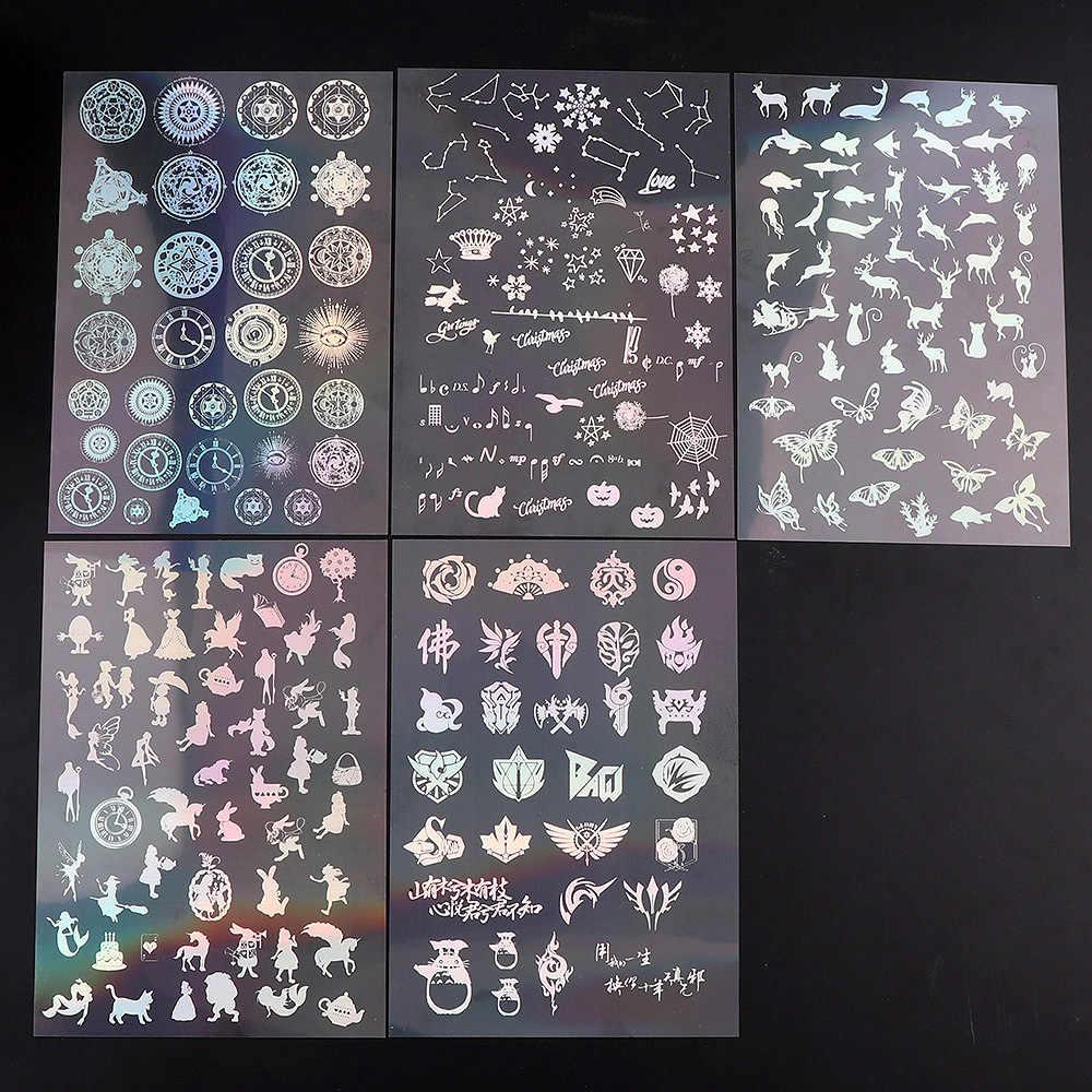 1 Uds. Magic Array Moon Material transparente colorido con el uso de la caja del teléfono del molde de Epoxy que hace la herramienta de la joyería que llena para DIY