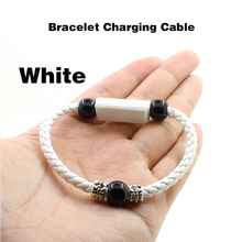 USB Charging Bracelet Charger Outdoor Portable Leather Micro C Type Lighting Data Cable for Ipone XS X 8 7 6 S