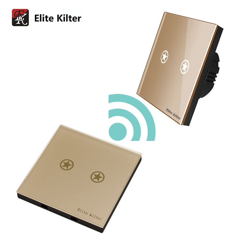 Elite Kilter Luxury Crystal Glass Remote Control Touch Switch For Wall Lights Wireless S ...