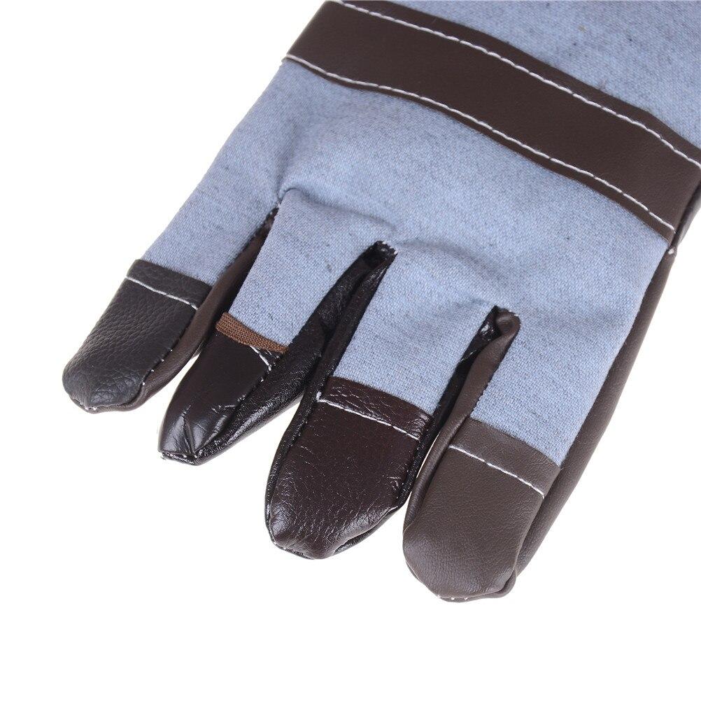 1 paar Verdickung Leder Schweißen Handschuhe Leder Schweißen Handschuhe Wärmedämmung Arbeit Schutz Liefert DIY Holz Arbeits