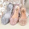 2016 Verão Chinelos Novos Chinelos Mulheres Sandálias de Cristal Cintilante Sapatos de Geléia