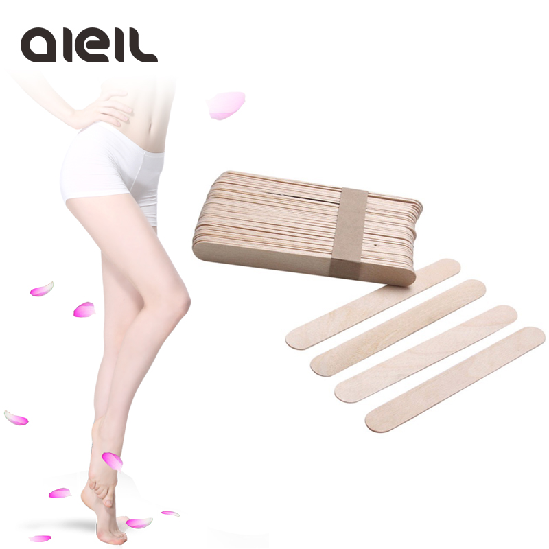 10PCS Wooden Body Hair Removal Sticks Wax Waxing Disposable Sticks Beauty Toiletry Kits Wax Waxing Disposable Sticks 500pcs pack medical disposable sterile waxing tongue depressor wax stick spatula for oral examination birch wooden