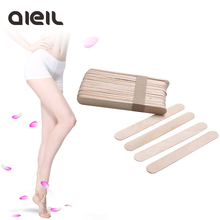 10PCS Wooden Body Hair Removal Sticks Wax Waxing Disposable