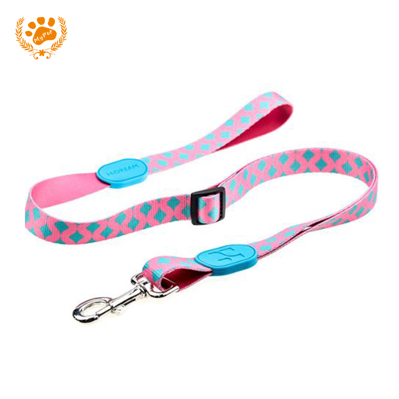 Personality Profusion Dog Leash Pet Dog Leashes Heat Transfer Outdoor Durable Traction Rope Dogs Lead Safety Polyester HD010002