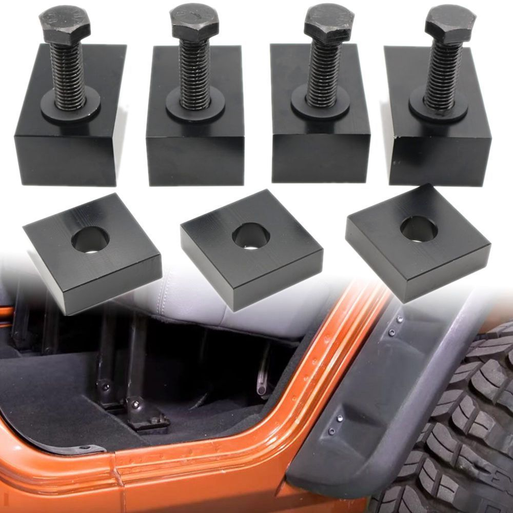 For Jeep Wrangler JKU Black Delrin Plastic Rear Seat Recline Kit With Bolts And Washers