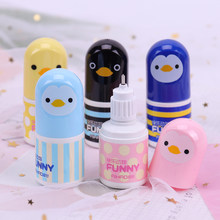 1PC Kawaii Plastic Correction Fluid Corrector Tape Creative Correction Tape Office School Supplies Cute Stationery Novelty Chick(China)