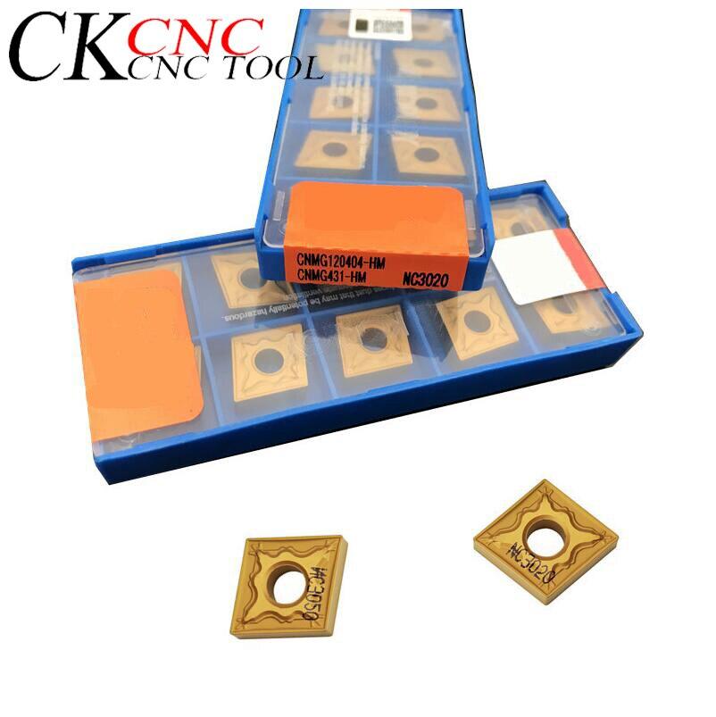 CNMG120408-HA NC3020 haute qualité 10 pièces/ensemble de CNC tour outil de tournage carbure insère CNMG1204 pour le traitement de l'acier
