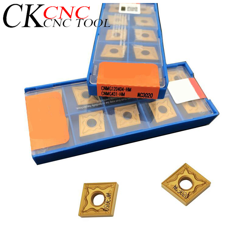 CNMG120408-HA NC3020 High Quality 10 Pieces / Set Of  CNC Lathe Turning Tool Carbide Inserts CNMG1204 For Steel Processing