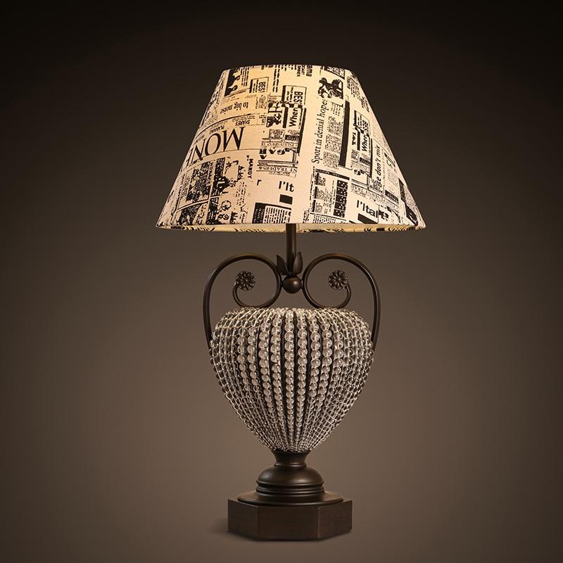 Американский кантри ретро спальня, тумбочка, английский Ветер граффити рабочий стол, чтение декоративные настольная лампа LO81812