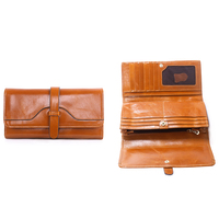 New Arrival Wallet Lady Multifunctional Purse Long Style Hasp Oil Wax Cowhide Closure Huge Capacity Fashion Handbag Money Ba
