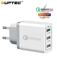 SUPTEC-cargador USB Universal de carga rápida 3,0, adaptador de pared Qualcomm QC3.0 para iPhone, Samsung y Xiaomi