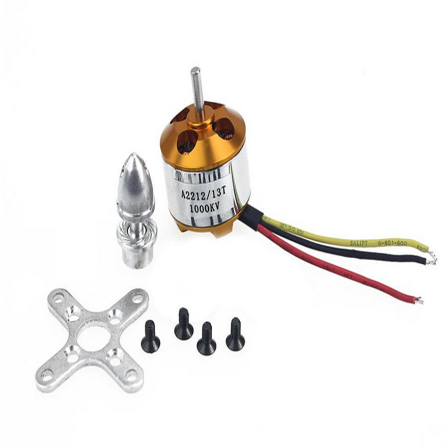 High Quality A2212 1000Kv Brushless Drone Outrunner Motor For Aircraft Helicopter Quadcopter Toys Wholesale Free Shipping  цены