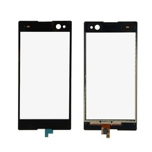 5pcs New Black Glass Panel Lens Touch Screen Digitizer For Sony Xperia C3 D2533 D2502 with LOGO Replacement Parts Free shipping