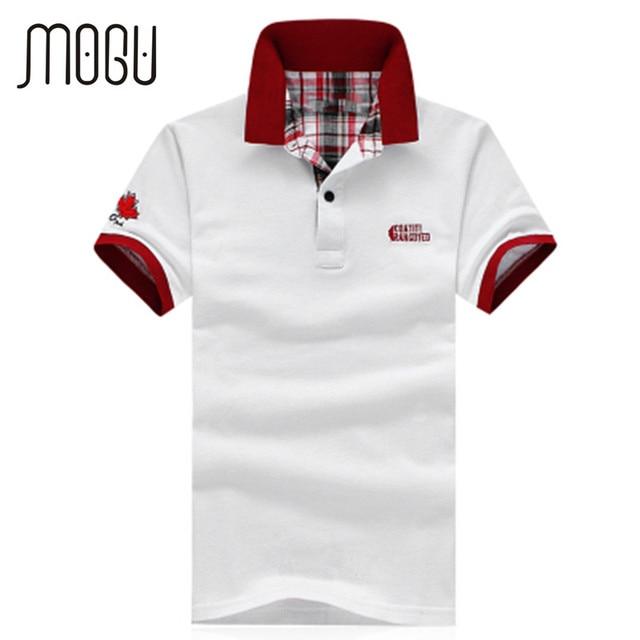 2016 Fashion Summer New Men's Short Sleeve white Polo Shirt Solid Color Plus Size XXXXL Cotton Polo Men