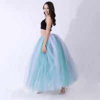 2018 new fashion long black tutu rock ballkleid frauen schwarz tutu vintage tulle lang puffy röcke lange tüll rock plus größe