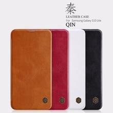 Flip Case For Samsung Galaxy S10 S10e NILLKIN Qin Series Leather Case Cover For Samsung Galaxy S10e Wallet Card Pocket Case