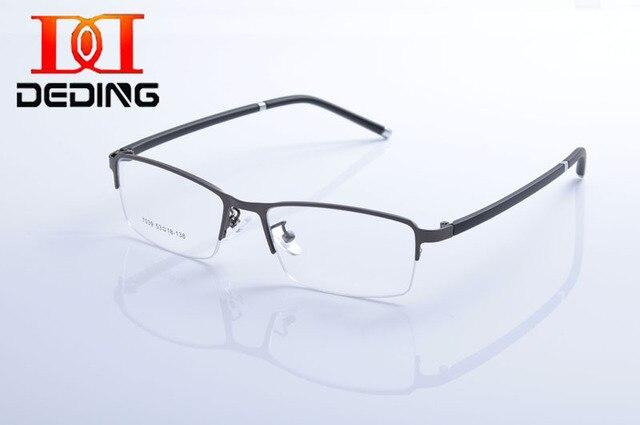 4469f9a5587da Deding elegante Design homens TR90 armação de Metal duplo fino caneta em  forma de quadrado óculos