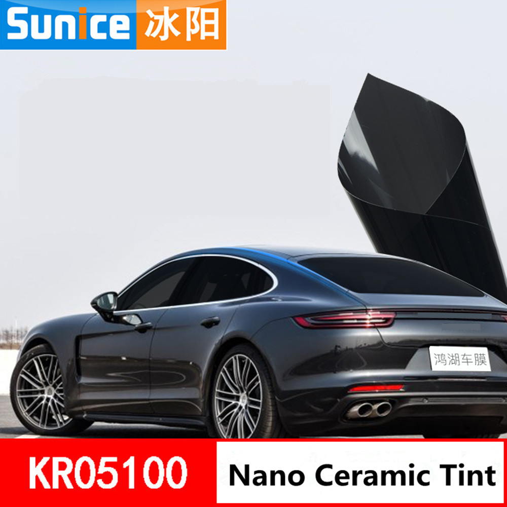 SUNICE 5%VLT Dark Black Car Window Tint Car Sunshade Vinyl Back Windshield Solar Tint Film Ceramic Coating Film1.52x1m 3.28ft