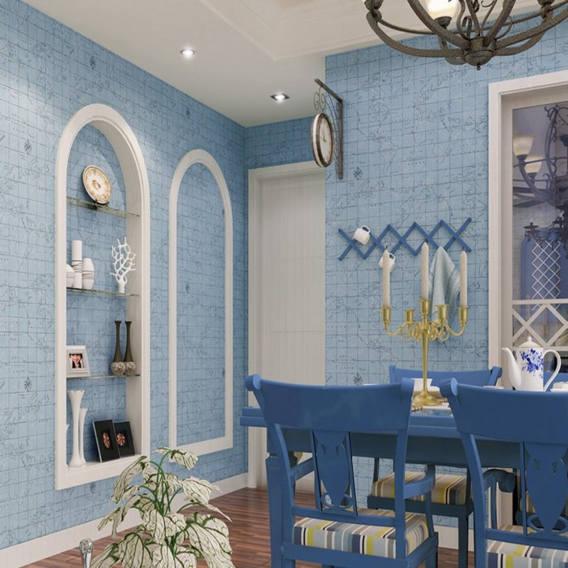 Free Shipping Custom Mediterranean Blue Lattice Nonwovens Wallpapers Living Room Restaurants Kids Room Background WallpaperFree Shipping Custom Mediterranean Blue Lattice Nonwovens Wallpapers Living Room Restaurants Kids Room Background Wallpaper