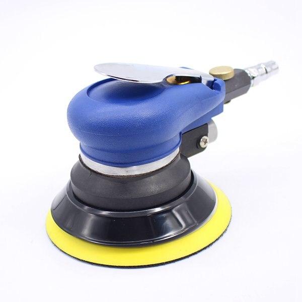 כלים יד 5 אינץ ללא ואקום משטח מט חוזר פניאומטיים נייר זכוכית אקראי Orbital האוויר סנדר מלוטש כלים יד מכונת גריסה (5)