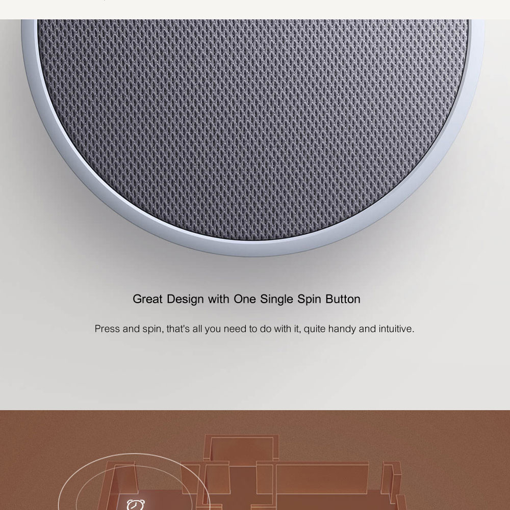 Xiaomi Mi Music Alarm Clock Bluetooth Speaker 240 Hours Standby Bluetooth 4.1 Speakers Control With APP For Android Smartphone Loudspeakers OK (4)