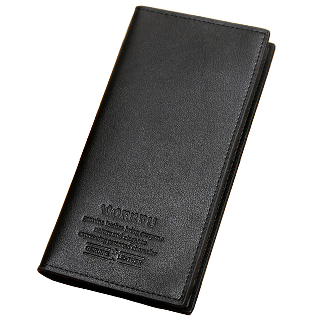 113e7c03ea0c Wholesale Price Long Wallet Fashion Eexplosion Model Pu Leather Black Brown  2 Fold Card Holder Wallets For Men Free Shipping