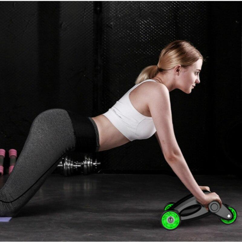 Roue abdominale pliante rouleau de roue abdominale équipement de Fitness pour la maison appareil pour abdominaux pour hommes et femmes