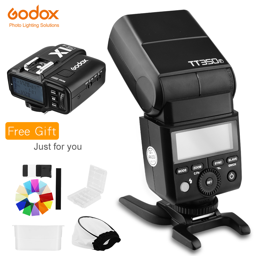 Godox TT350F 2 4G HSS TTL GN36 Flash Speedlite X1T F Trigger Transmitter Kit for Fuji