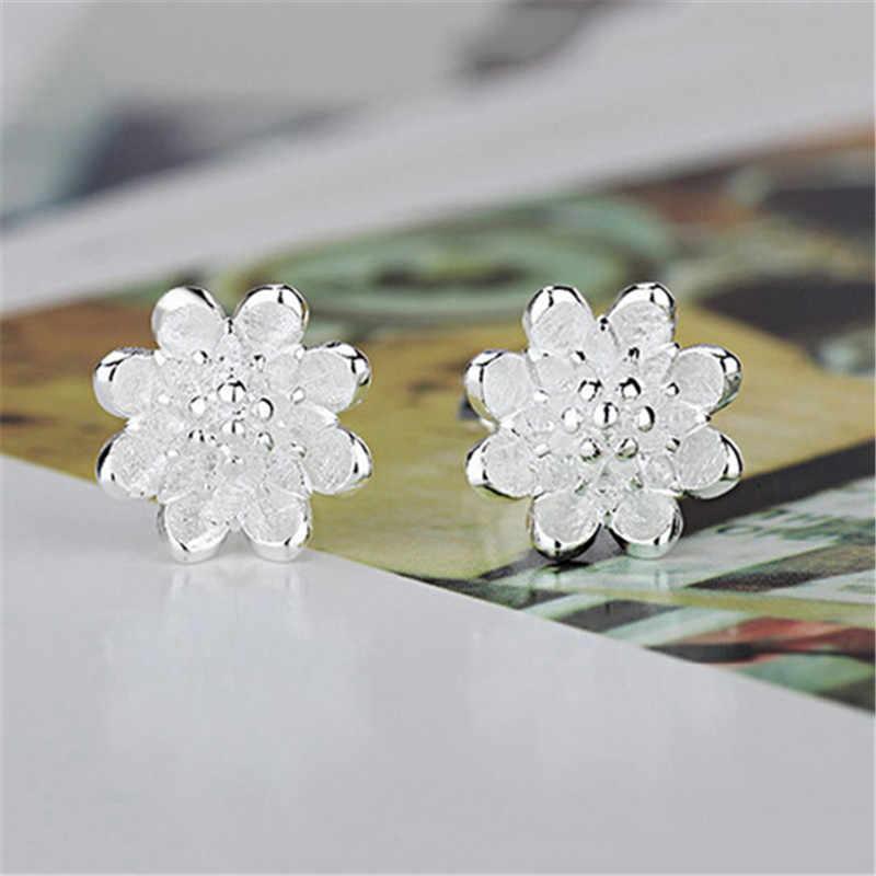 ขายแฟชั่นคู่ต่างหู 925 เงินสเตอร์ลิง Silver Cubic Zircon ที่สวยงามของขวัญเครื่องประดับสำหรับผู้หญิง