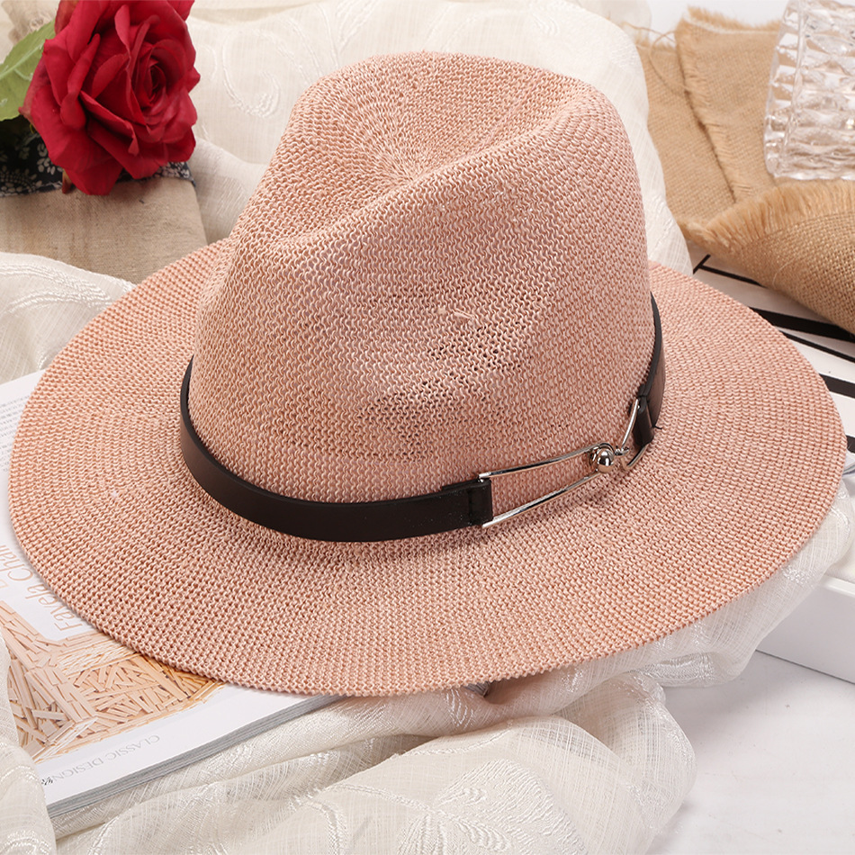 New Fashion Summer Spring Black Blend Cap Outdoor Casual Hat Men Fedoras Women's Fashion Jazz Hat  Black Hat