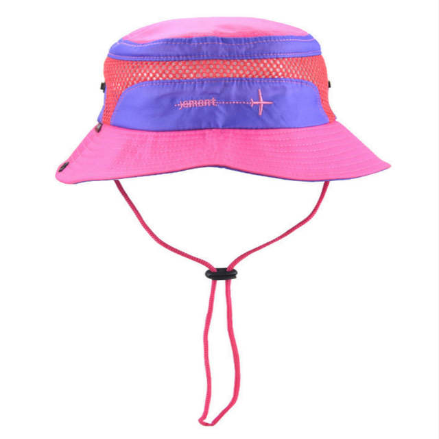 Online Shop Jamont Polyester Kids Bucket Hat With String Kids Boy
