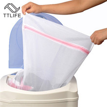 TTLIFE 3 Size Zippered Mesh Washing Laundry Bags Foldable Lingerie Bra Socks Underwear Machine Clothes Protection Net