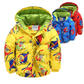 Winter Children Jackets Coats Boys Girls Duck Down Jacket Cartoon Winter Baby Boys Outerwear 2-5Years