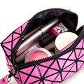 Mujeres Bolsa de Cosméticos portátil multicolor Caja de Artículos de Tocador de Viaje A Prueba de agua Kit de Maquillaje Organizador de La Joyería Caja de Cosméticos Para Damas