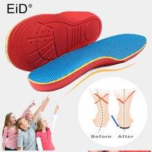 Eid crianças palmilhas ortopédicas para crianças sapatos de pé plano arco apoio almofadas ortopédicas correção saúde pés cuidados palmilha