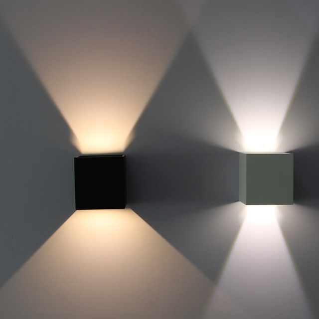 Ip65 6w Cube Adjule Surface Mounted Outdoor Led Lighting Wall Light Up