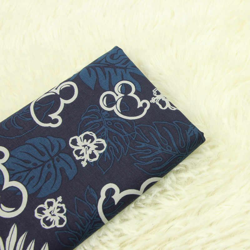 50*140 см мультфильм Микки хлопчатобумажная ткань для шитья Diy ручной работы ремесло девушки постельные принадлежности домашний кошелек из ткани одеяло