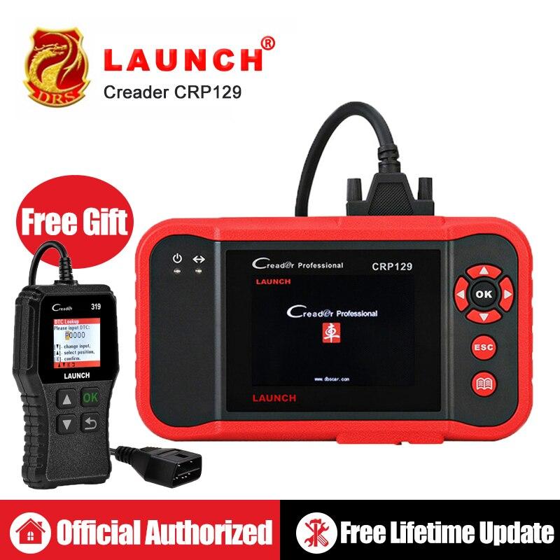 Lançamento X431 OBD2 CRP129 Creader Leitor de Código de Auto OBDII Ferramenta de Diagnóstico Do Carro do Scanner Automotivo Ferramentas de Digitalização Creader VIII 8 ABS SRS