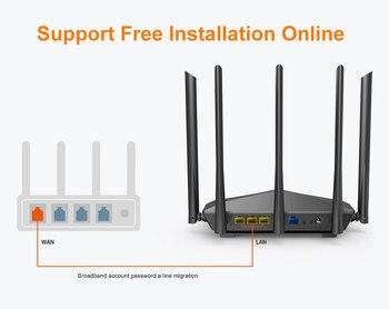 1200Mbps Wireless WiFi Router,1GHz CPU,1WAN+3LAN Gigabit Ports, 4*6 dBi wall-mounted antennas - AC10 3